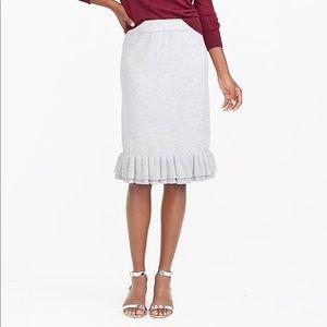 NWT J. Crew Ruffle Sweater Skirt Size 4